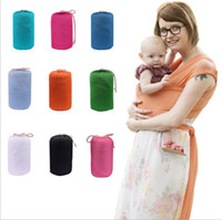Wholesale Cotton Sling Backpack Wholesale - Newborn Breastfeed Gear Sling Baby Stretchy Wrap Carrier Infant Strollers Gallus Kids Breastfeeding Sling Hipseat Backpacks Backtowel B2824