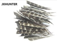 Wholesale turkey feathers arrow for sale - Group buy 60 pk traditional bow bamboo wood arrow fletches quot water drop natural turkey feather arrow feather for hunting