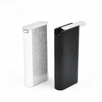 Wholesale Ejection Cigarette Case - 1 x Automatic Ejection Cigarette Case Box Holder Aluminum Pocket Cigarette Case Composite Cigarette Case and Box