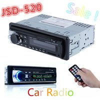 Wholesale Din Bluetooth - Hot Car Radio Stereo Auto Audio In-dash Single Din FM Receiver 12V Bluetooth Aux-In Input Receiver USB MP3 MMC WMA Radio Player