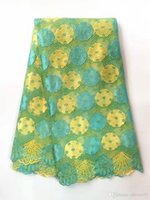 Wholesale African Fabrics Yellow - african lace fabric new swiss voile laces switzerland wedding Embroidered Eyelet Fashion Hot Selling
