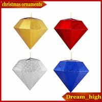ingrosso decorazioni diamanti-Diamante ornamenti di Natale Festival Ornamenti decorativi Mall Charm Diamante Christmas Ball Celebration Holiday Decorations Cristmas Gift