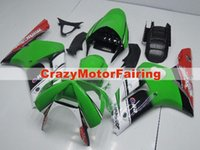 Wholesale Zx6r White Red - 3 Free gifts New Fairing kits for 03 04 ZX 6R 636 2003 2004 Ninja ZX6R ZX636 ABS fairings Body kits Cool red green white black
