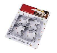 головоломка оптовых-4шт/комплект головоломки печенья Формы из нержавеющей стали печенья комплект DIY печенье плесень формы для выпечки десерт плесень торт