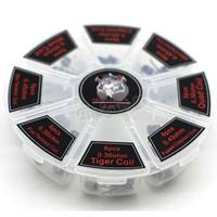 bobines de fil de tigre achat en gros de-8 en 1 Demon Killer Wire Bobines préconstruites Clapton Quad Tiger Hive Extraterrestre Fusion Clapton Mix Twisted Coil fit DIY Atomiseur