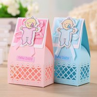 Wholesale Hot Box Events - Hot Sale Baby Shower Shape Baby Boy Girl Marriage Box Wedding Favor Boxes Gift Candy Boxes Event & Party Supplies