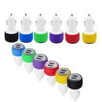 Wholesale tire usb - Real 1.0A Dual USB Car Charger Adapter Tire Design Double USB 2-Port for Smart phone 100PCS LOT