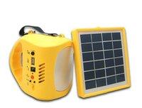 kits de iluminación solar al por mayor-Las luces solares que acampan solares interiores y al aire libre más nuevas del diseño de la linterna de inundación llevaron kits de iluminación con la función de carga del teléfono
