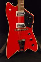 ingrosso rosso jupiter-Rare Gre G6199 Billy-Bo Jupiter Wine Red Thunderbird Chitarra elettrica Black Pickguard Chrome Hardware Firebird