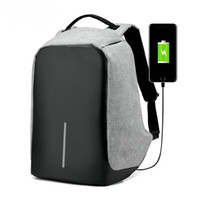 2016 Real Hot Sale Grey Vrtrend Usb Carga Anti Theft Backpack Men Travel Segurança Waterproof School Bags College Teenage Male 15inch Laptop