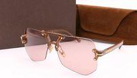 Wholesale tom glasses resale online - Fashion designer plate with metal all match Tom Polarized sunglasses men and women Sunglasses retro tide TF2233 Sunglasses