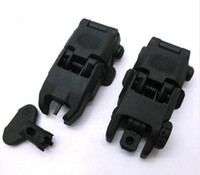 Wholesale Back Up Sights - Hot Sell Tactical Airsoft Front and Rear Flip-Up Back-Up Iron Sights Folding Battle Sight Free Shipping