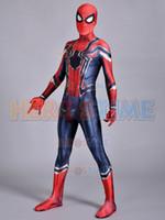 Wholesale Female Superheroes - Spider-Man Homecoming Costume Superhero Iron Spiderman Costume Fullbody Zentai Suit For Adult Kids