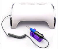 Wholesale Nail Uv Lamp Drill - Drill Dust Collector 54W UV Lamp Nail Vacuum Cleaner Strong Power 3 Fans Nail Dryer for Curing Nail Polish Sander Beauty Tool