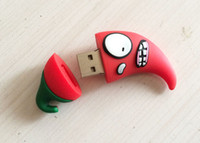 mini msata usb toptan satış-10 Parça 4 GB 8 GB Hiçbir Logo PVC Kırmızı biber USB Flash Sürücüler Yepyeni Plastik Mini Karikatür Kırmızı biber U Disk USB2.0