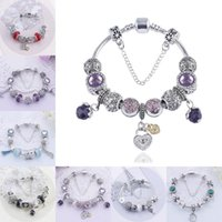 Wholesale Hot Sale Preferred - 2017 Hot Sale Silver Amour Charm Bracelet for Women DIY Jewelry Charm Pandora Style Crystal Beads Bracelets Gift Top Seller Preferred D170S