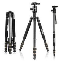 Wholesale cameras photographic - Zomei Z688 Professional Photographic Travel Compact Aluminum Heavy Duty Tripod Monopod Ball Head for Digital DSLR Camera
