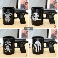 Wholesale Coffee Cup Pistol Handle - New Creative Pistol Sons of Anarchy Gun Handle Coffee Mug Pistol Mug Ceramic Cup