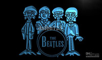 LF167-TM The Beatles Tambour Band Bar Neon Light Sign. La publicité. panneau conduit, livraison gratuite, en gros