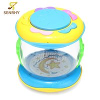 Wholesale mini drum toy - Wholesale- Mini Musical Kids Drum Baby Child Colorful Lights Educational Development Toys Drum Baby Birthday Percussion Instruments Gift