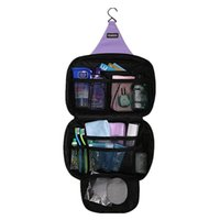 Wholesale Hanging Beauty Organizer - Wholesale- Hanging Makeup Bags Cosmetic Organizer Beauty Products Brushes Lipstick Pouch Travel Toiletry Storage Cases Boxes Accessories