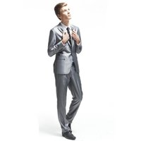 Wholesale Jacket Anzug - Wholesale-2016 new arrival herren anzug Two Buttons Groom Tuxedos Notch Lapel Best Groomsman Bridegroom Prom Suits men suit (Jacket+Pants)