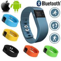 tw64 smartband pulsera deportiva inteligente al por mayor-TW64 Smart Wristband Fitness Activity Tracker Bluetooth 4.0 Smartband Sport pulsera podómetro para IOS Samsung teléfonos móviles Android PK Miband