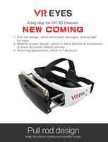 Wholesale Pull Magnets - 2016 VR Box VR Glasses 3d Virtual Reality Box For 3.5-6.0' Phones with Retail Box Exclusive Pull Rod magnet Sucker Design Free DHL