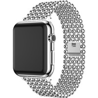 Wholesale Belt Buckle Bracelet Beads - Watchband for Apple Watch 42mm 38mm Band Gold New Luxury Stainless Steel Beads for Iwatch 2 3 Series Strap Steel Bracelet Belt