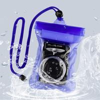 bolsa de cámara dslr al por mayor-Nuevo bolso seco de la bolsa de la caja de la vivienda subacuática impermeable de la cámara de DSLR SLR con la venta al por mayor de la cuerda