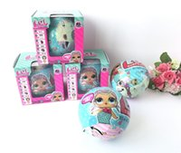 Wholesale Funny Cartoons Kids - LOL Surprise Doll Magic Funny Removable Egg Ball Doll Toy Educational Novelty Kids Unpacking Surprise Dolls Girls Toys c150