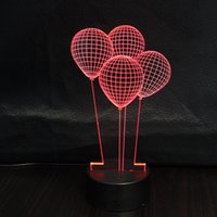 Romance Fantasy Child Balloon 3d Lightbox pour décoration de chambre à coucher en plus de Lampara Led Night Lights