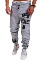 Wholesale Korean Men S Clothing - Wholesale-Korean Leisure NEW YORK Letter Stamp Design Fashion Sports Pants Gym Shark Clothing Joggers Camouflage Army Jogging Outdoor