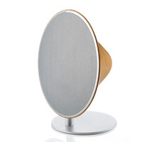 Wholesale Wooden Pc Speakers - Wooden Vintage NFC Speaker SOLO ONE Bluetooth Wireless Speakers Stereo Super Bass Touch Button Aux for IOS Smartphone Tablet PC