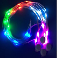 2016 Colorful lampada LED perline Shoe Lace fibra ottica luminosa scarpe Laces Light Up incandescente lampo di nylon del merletto