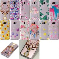 Case For Galaxy Note8 Nota 8 S8 Plus S7 Edge Unicorn Flower Clear Soft TPU Coruja Flamingo Dandelion Gel Cute Cartoon Cover Folhas Giraffe Voltar