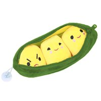 Wholesale Kids Flower Pillow - Wholesale- High Quality Toy 1pc Kids Baby Plush Toys For Children Cute Green Pea Stuffed Plant Doll Kids Kawaii Gift SmallPendant SA838746