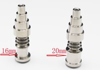 Wholesale Domeless Titanium Nail Titanium GR2 Nails male and female joint mm mm mm Glass bong water pipe glass pipes Universal and Convenient