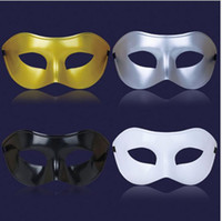 Wholesale Gold Venice Mask - 100PCSChristmas mask Venice mask masquerade party supplies plastic half face mask 4 colors, free send DHL