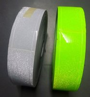 Wholesale Green Safety Tape - 5cm*5m white green tiny star PVC reflective warning tape sewing for safety clothing