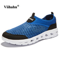 Wholesale Foot Wraps - Viihahn 2017 Men Casual Shoes Summer Breathable Mesh Zapatillas For man Super Light Flats Shoes, Foot Wrapping Man Shoes