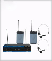 Wholesale Wireless Headset Microphone System Uhf - Handheld Wireless Microphone 4 Channel UHF Handheld Wireless Microphone MIC System with 4 Lapel And Headset Microphone Wireless Microphone