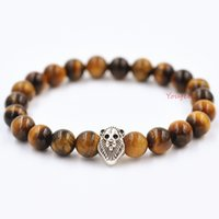 Wholesale Beads Amber - Bohemian jewelry natural agate beads bracelet evil transit Lionhead Thanksgiving Day present Free shipping shoppin g crazy