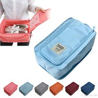 Wholesale Sort Shoes - High quality Shoes Travel Storage Bag Waterproof Nylon 6 Colors Portable Organizer Bags Shoe Sorting Pouch