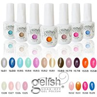 Wholesale Color Soak - Top quality Harmony Gelish 440 Colors 15ml Gel Polish Nail Accessories UV Color Gel Soak Off Nail Gel for Fedex b331