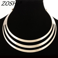 Wholesale Choker - 2016 Charm Choker Necklaces Women Gorgeous Metal Multi Layer Statement Bib Collar Necklace Fashion Jewelry Accessories Hot Sale