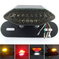 Wholesale Led Tail Lights For Motorcycles - 20LED All in One Motorcycle Lens 20 LED Lights Integrated Tail Brake Stop Running License Lamp Bulb Motorcycle Tail Turn Signal For Quad ATV