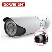 Wholesale Waterproof Cmos Cctv Camera - 4MP POE IP Camera ONVIF Waterproof Outdoor Bullet CCTV Camera , PC&Mobile View P2P Cloud Auto Iris 2.8-12mm VariFocal Lens