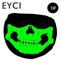 EYCI Black Luminous Face Mask Skeleton Anti Dust Outdoor Cycling Bicycle Riding Face Mask