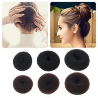 Wholesale Cute Women Girls Sponge Bract head meatball head Hair Bun Maker Ring Donut Shape Hairband Hair styling Tool Makeup Tool Kits